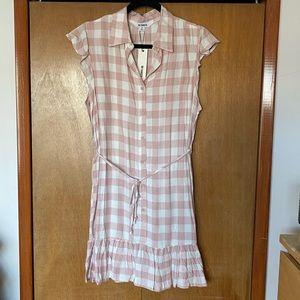 Pink Plaid Gingham Dress